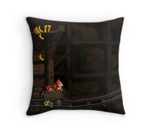 Donkey Kong Country - Mine Cart Carnage Throw Pillow