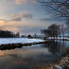 Mendham Bridge in Winter by Kathy Wright