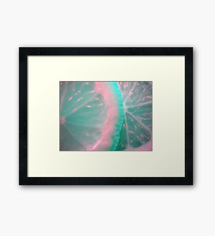 Colour Fruit. Macro. Framed Print