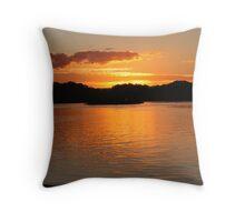drydock sunset Throw Pillow