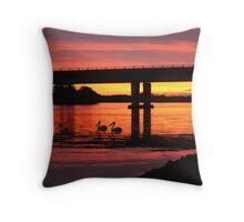sunrise drydock  Throw Pillow