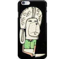 Conejo y cuchillo iPhone Case/Skin