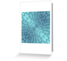 Blue and Turquoise Metallic Star Greeting Card