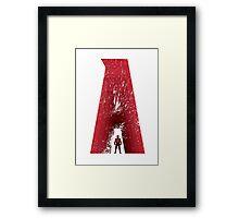 Superhero Alphabet : A Framed Print