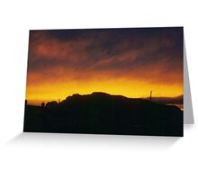 Sunset over Easdale Island Greeting Card