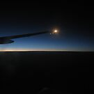 Sunrise over the Mid Atlantic from a 777 by Belnahua