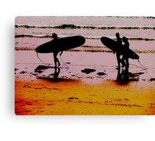 A Day of Surfing Canvas Print
