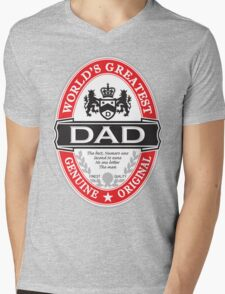 World's Greatest Dad Mens V-Neck T-Shirt