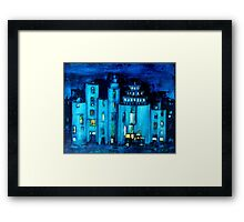 blue castle Framed Print