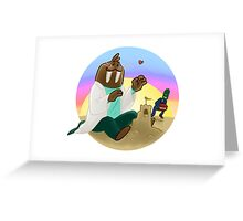 Trottimus on the Beach Greeting Card