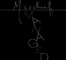 mischief managed - black by Esther Saavedra