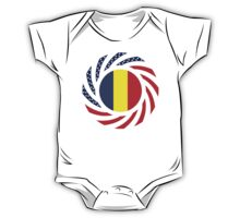 Romanian American Multinational Patriot Flag Series One Piece - Short Sleeve