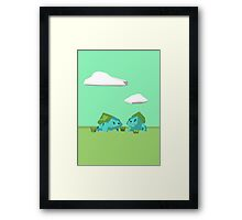 Low Poly Bulbasaurs Framed Print