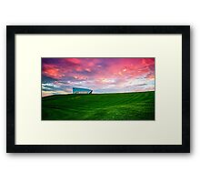 Sunset Over Arboretum Framed Print