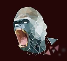 Low Poly Gorilla by Michael Blais