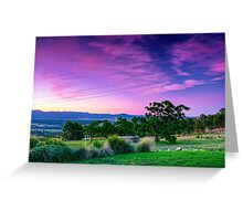 A Stromlo Sunset Greeting Card