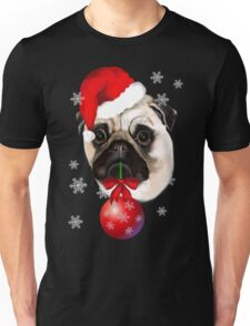 Merry Christmas Pug Unisex T-Shirt