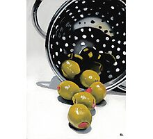 Olives in a Colander Photographic Print