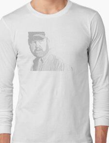 Bobby Singer Text Portrait Long Sleeve T-Shirt