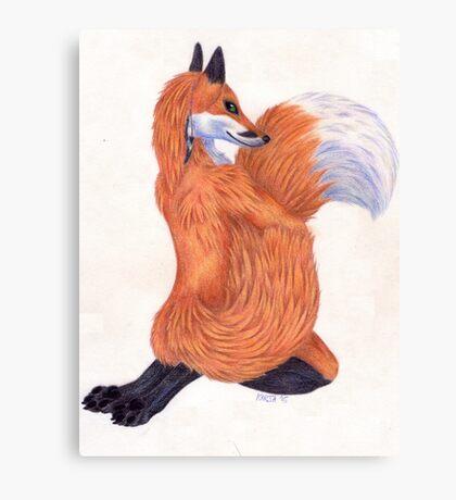 Anthro Fox Canvas Print