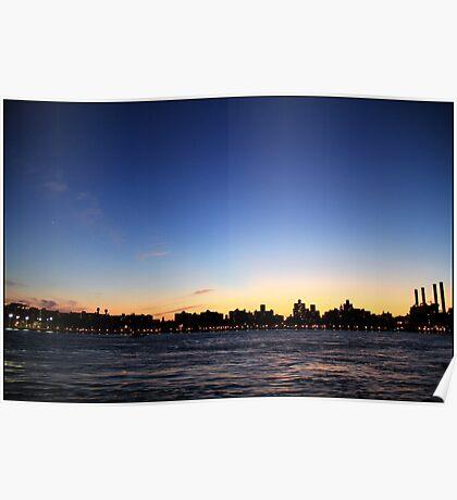Alphabet City at dusk Poster
