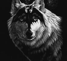 DRAGON WOLF by SMorrisonArt