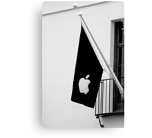Apple Flag Flying in the Wind Canvas Print