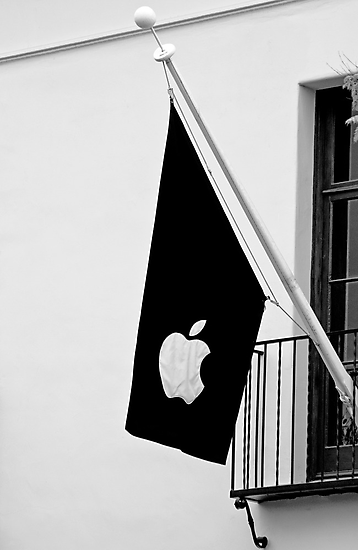 Apple Flag Flying in the Wind by Buckwhite