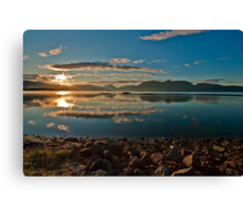 Sun rising over Lochaber Canvas Print