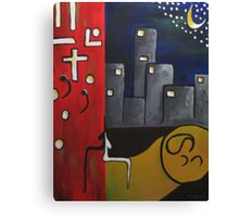 Red City Towers Three Canvas Print