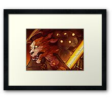 Charge the Line! Framed Print