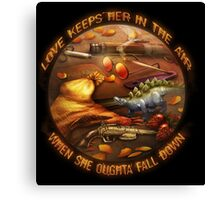 Love Keeps Her In The Air Canvas Print