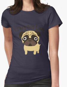 Crazy Pug Lady Womens Fitted T-Shirt