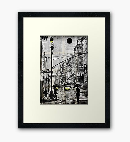 one day in N.Y. Framed Print