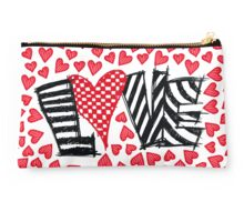 Freehand Sketch Love Letter Studio Pouch