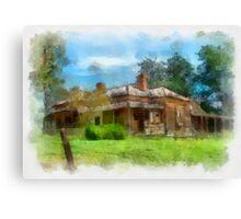 Old House-Narrandera Canvas Print
