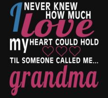 i never new how much i love my heart could hold til someone called me grandma T-Shirt