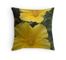 Back Bay Yellow Flowers 2 Throw Pillow