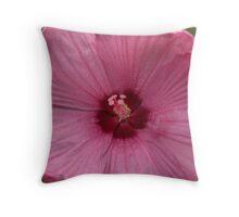 Garden Fuscia Flower Close Up Throw Pillow