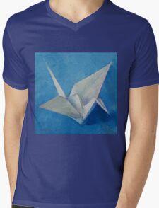 Origami Crane Mens V-Neck T-Shirt