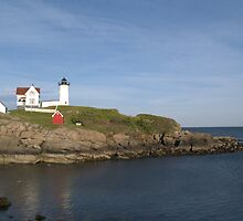 York Maine Nubble Lighthouse Island by photosbycoleen