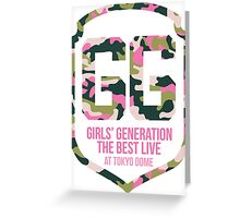 Girls' Generation (SNSD) The Best Live at Tokyo Dome Shield Greeting Card