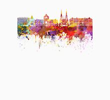 Strasbourg skyline in watercolor background Unisex T-Shirt