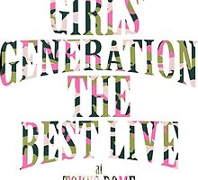 Girls' Generation (SNSD) The Best Live at Tokyo Dome Text by ikpopstore