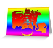 Rainbow Canon EOS 630 Greeting Card