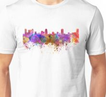 St Petersburg skyline in watercolor background Unisex T-Shirt