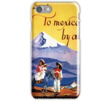 Mexico Vintage Travel Poster Restored iPhone Case/Skin