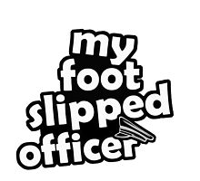 "''My foot slipped officer"" - JDM Decal by harrison44"