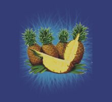 Art Pinapple Kids Tshirt by Bradjames