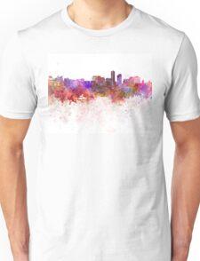Wilmington DE skyline in watercolor background Unisex T-Shirt